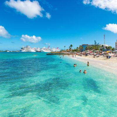 Junkanoo Beach''s water is inviting in Nassau, Bahamas