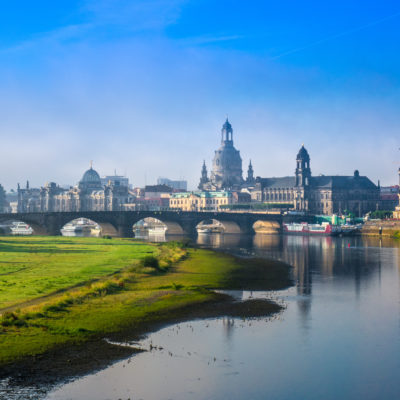 The  bridge on river of city Dresden, Germany.