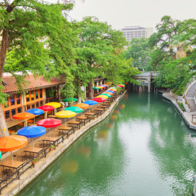 River walk in San Antonio in the morning