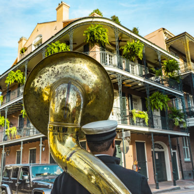 New Orleans ina sunny beautiful day.